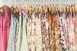 floral pattern young girl dresses in children wear fashion shop